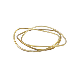 Brass stacked Sway bangles by Knuckle Kiss