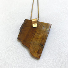 Tiger Eye Chunk Necklace