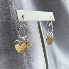 WAVY BOAT MIXED METAL EARRINGS (2020 VOL.1)