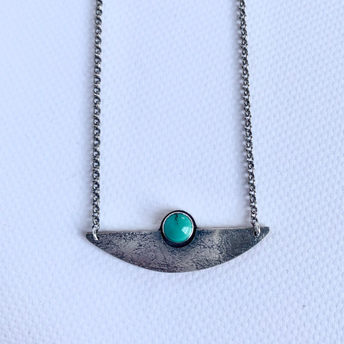SALE Mixed Metal Turquoise Necklace