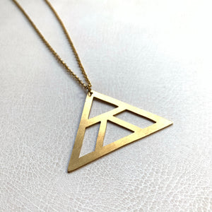 SALE Geometric Triangle Necklace