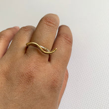 SALE Mixed Metal Wavy  Ring