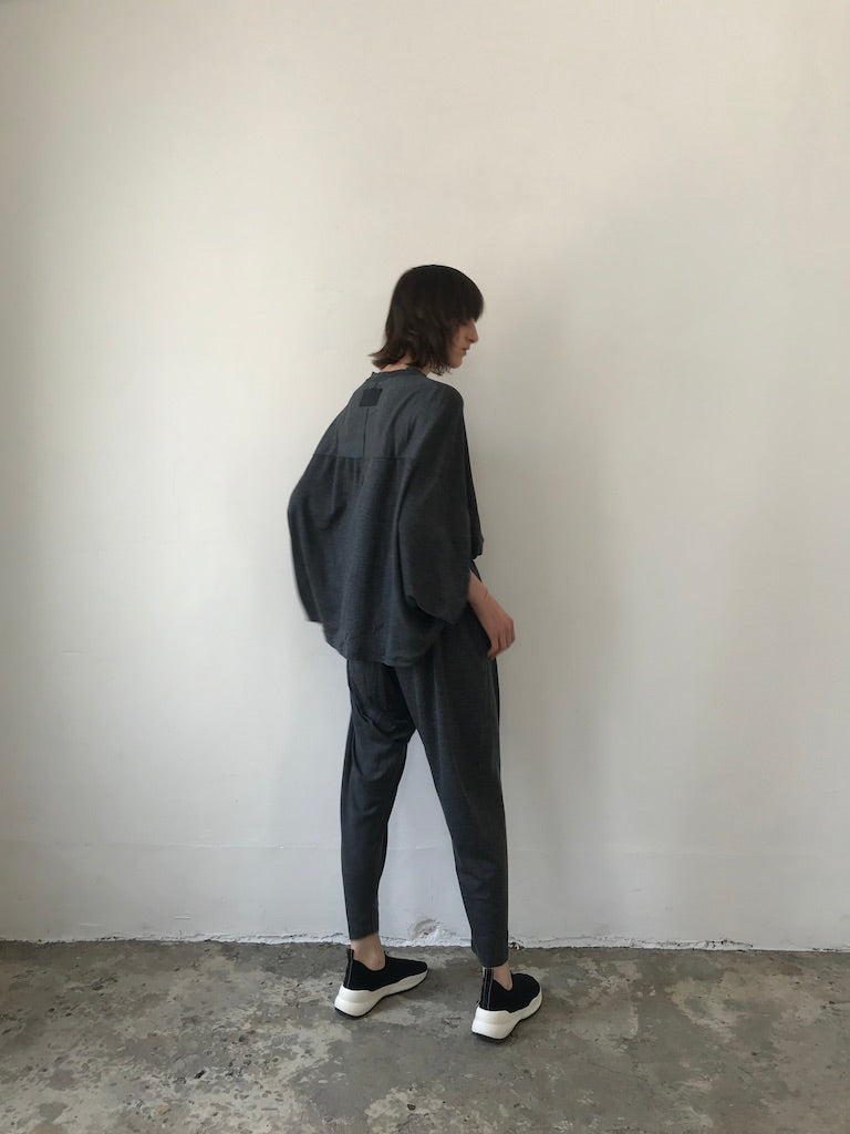 WING BACK JUMP SUIT / WASHABLE WOOL