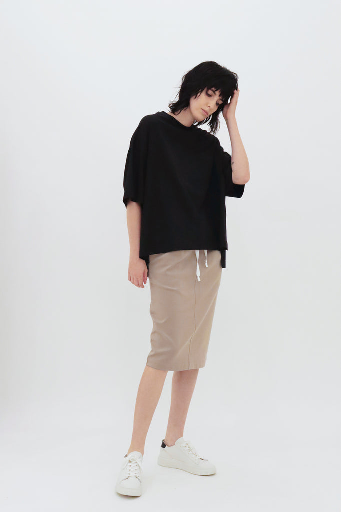 MASSIVE T SHORT / MERCELISED COTTON TEE - C4 (4859369586767)