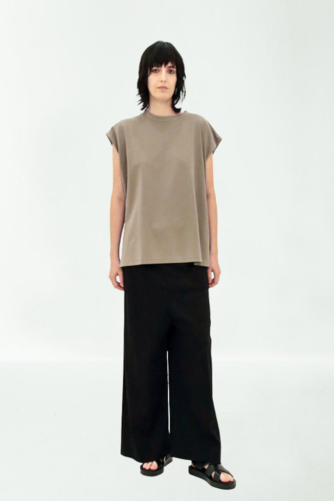 TUCK-IN SLEEVE TOP / MERCELISED COTTON TEE - C4 (4859369553999)