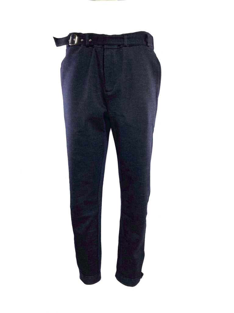 BELTED FRONT TROUSERS W/C / WOOL COTTON JAQUARD		 		 		 - C3 (4694583935055)