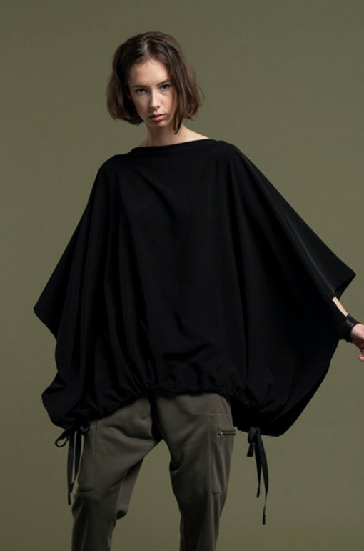 PONCHO TOP / SILKY POLY JERSEY- C2