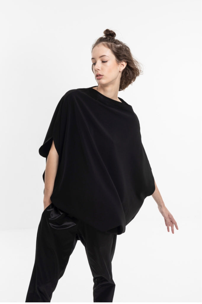 LUNA TOP  / SILKY POLY JERSEY- C2