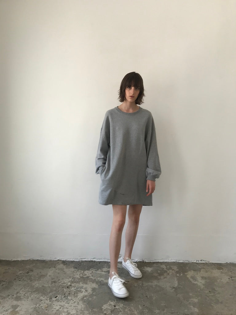 PUFF SLV DRESS / COTTON TERRY