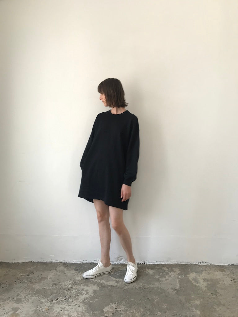 PUFF SLV DRESS / COTTON TERRY (3985445650511)