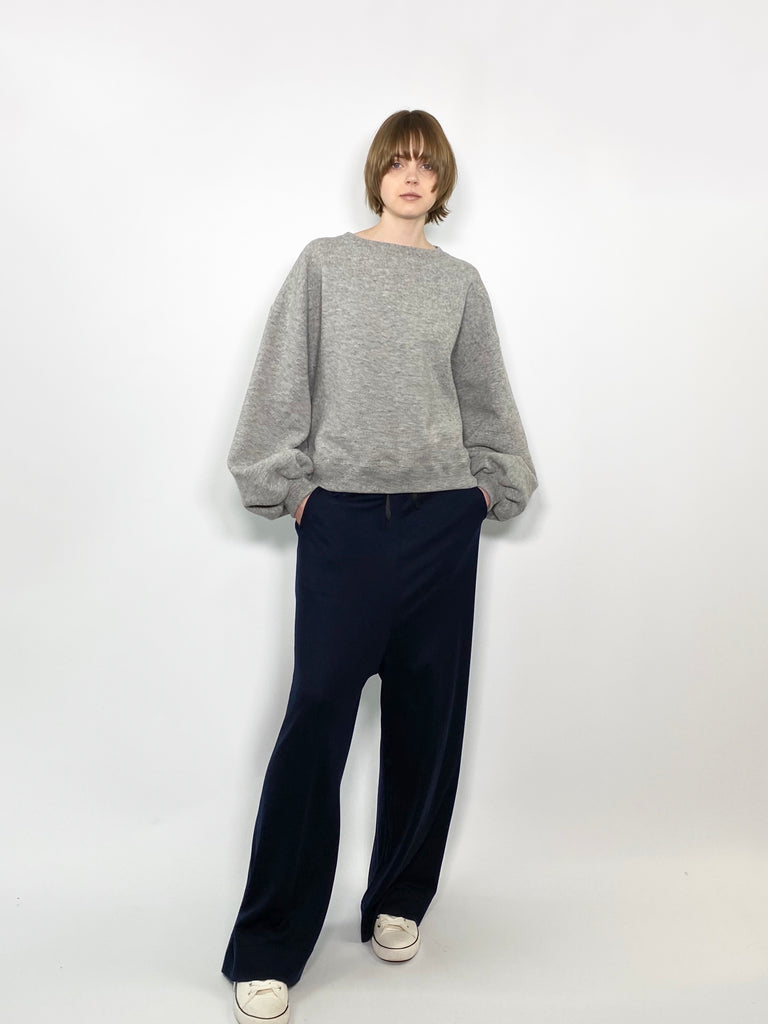 PUFF SLV SWEAT / C/W BRUSHED TERRY - C3 (4694583771215)