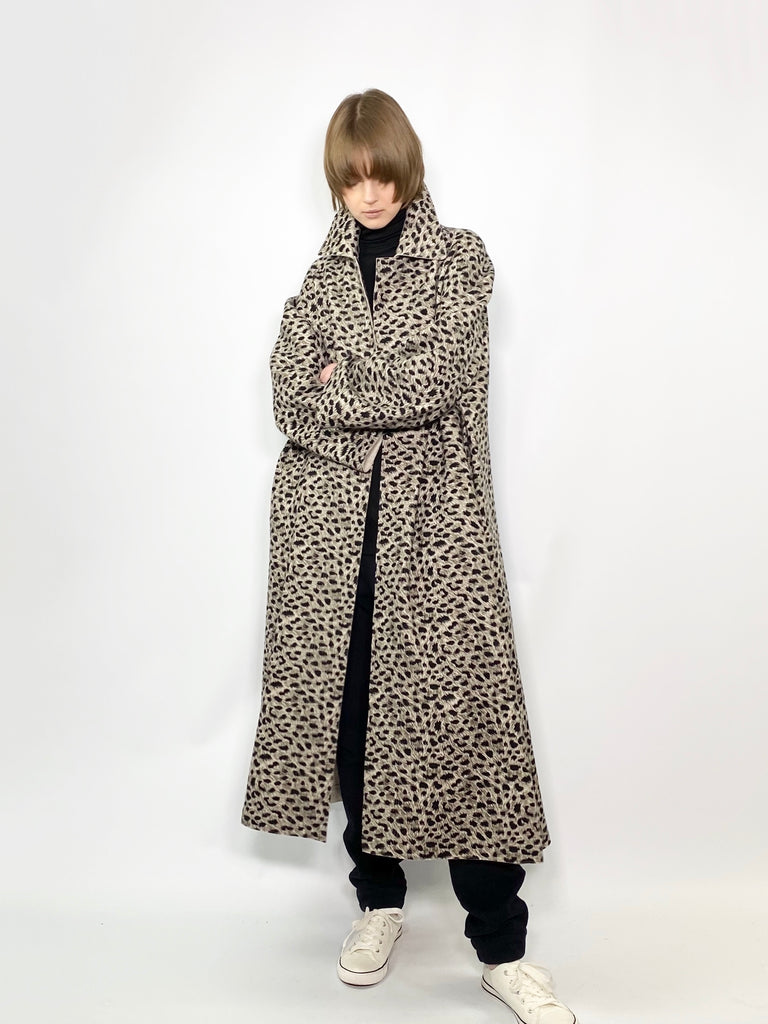 RAGLAN COAT LEOPARD / LEOPAED on GEELONG INLAY - C3 (4694584492111)