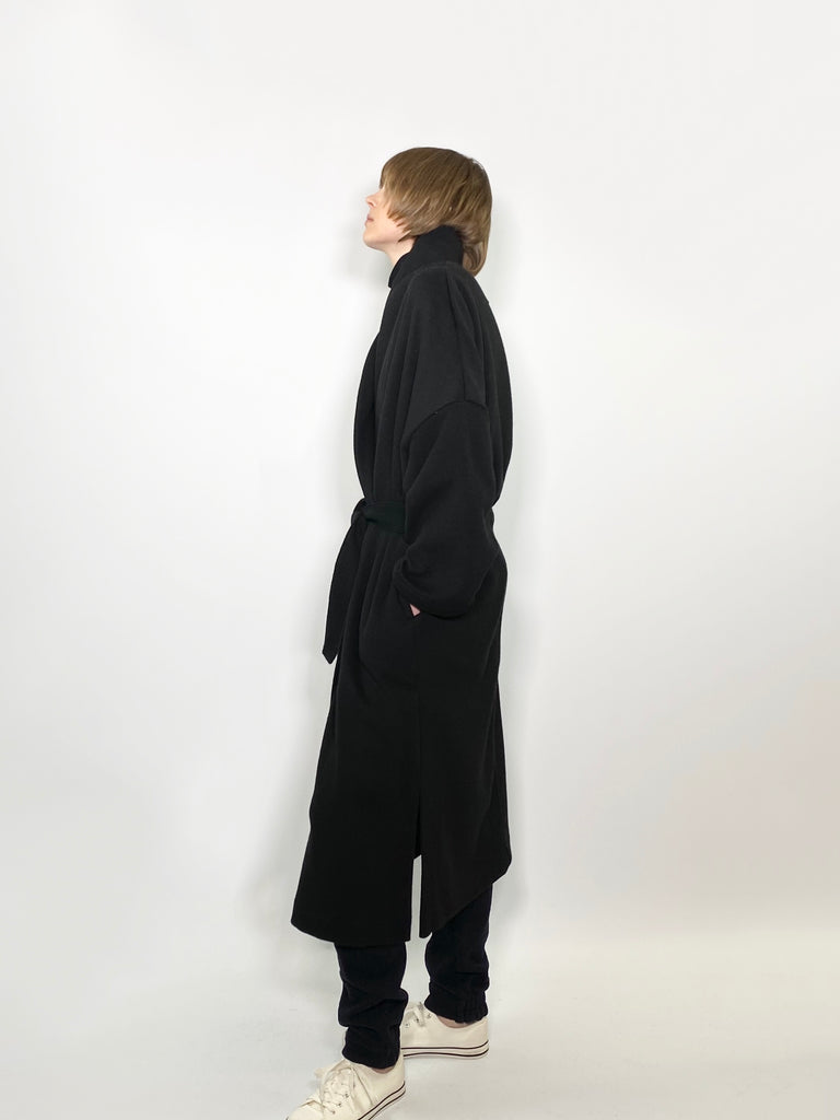 SHAWL COLLAR COAT / FEATHER KARL BEAVER - C3 (4694584426575)