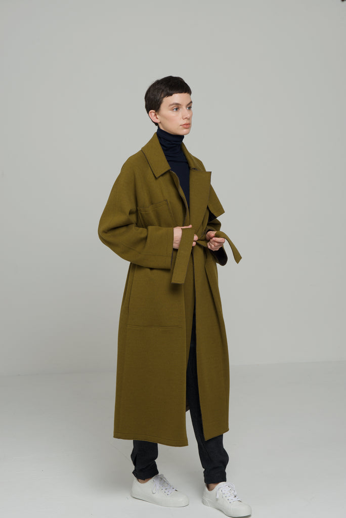 TRENCH COAT / FEATHER KARL BI-COLOUR JERSEY - C3 (4694584361039)
