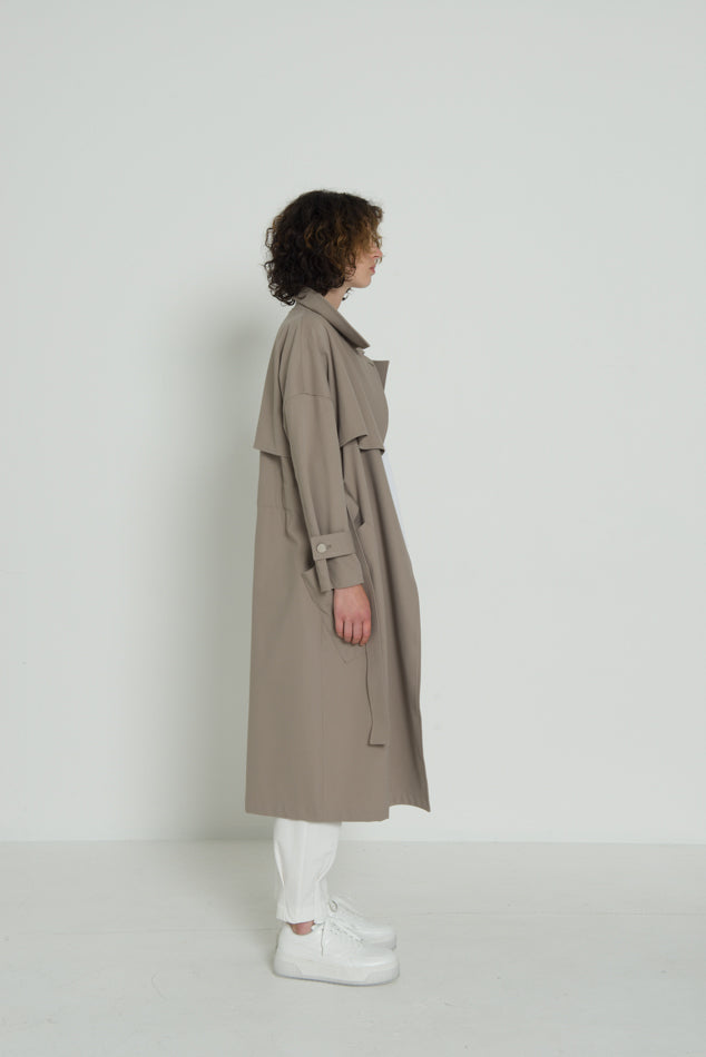 BELTED TRENCH / TWILL JERSEY - C4 (4859369914447)
