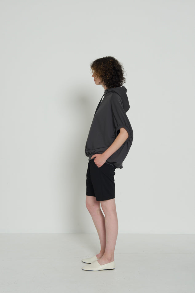 WIDE SWEAT HOODY SLEEVELESS / FRENCH TERRY - C4 (4859369193551)