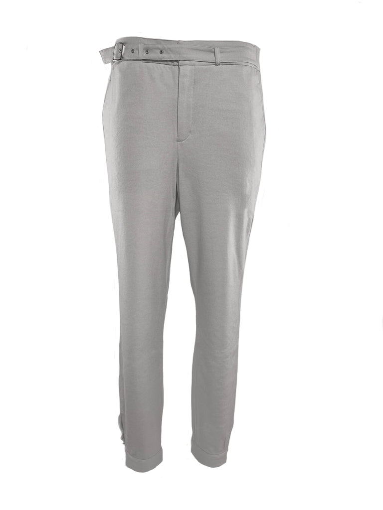 BELTED FRONT TROUSERS / DIAMOND LUMINARY WOOL - C3 (4694584098895)