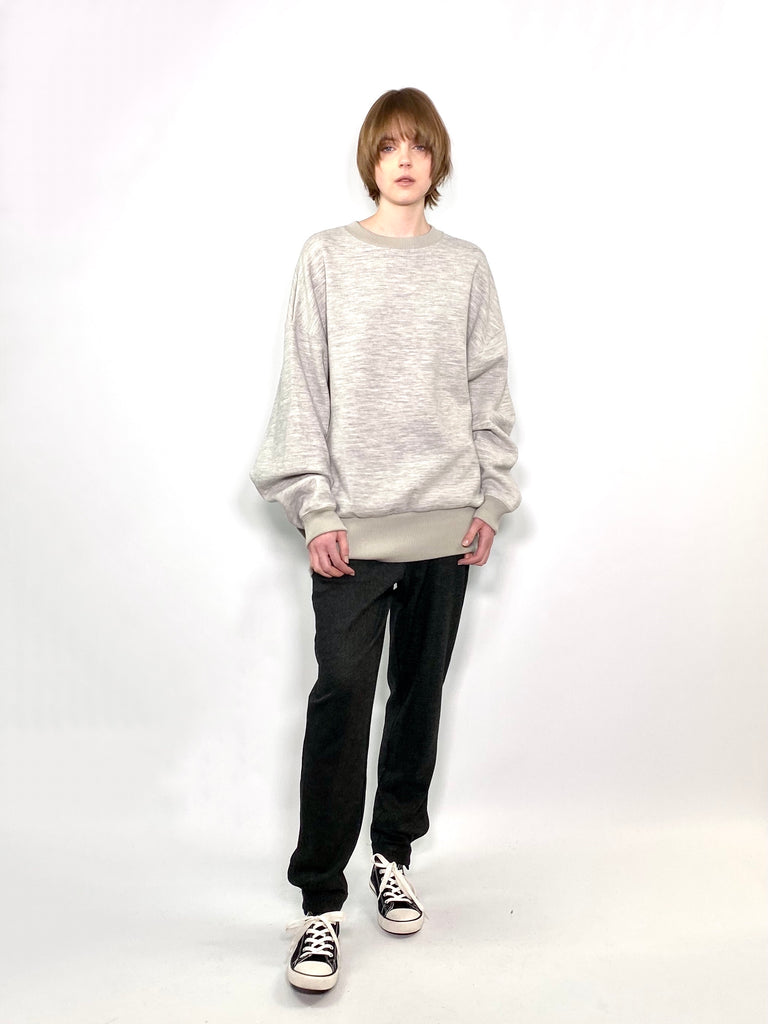 TUCK SLV SWEAT / FEATHER KARL BI-COLOUR JERSEY - C3 (4694583574607)