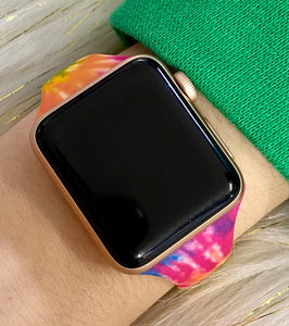 Bright Skinny Tie Dye Watchband