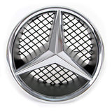 Mercedes Led Badge Emblem White Light Car Star Logo Front Grill Glow (Silver 2005-2011)