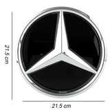 Mercedes benz Eemblem Led Badge White Light Car Star Grill Logo Front  (Shiny Silver GLC GLS GLE)