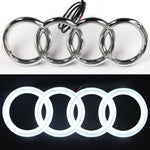 Audi Led Badge Emblem Logo Front Grill Illuminated Glow Light White A1 A3 A4 A5 A6