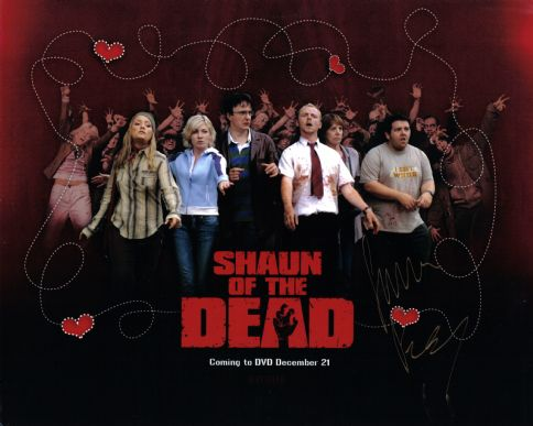 Simon Pegg - Shaun of the dead - 10 x 8 Autographed Picture