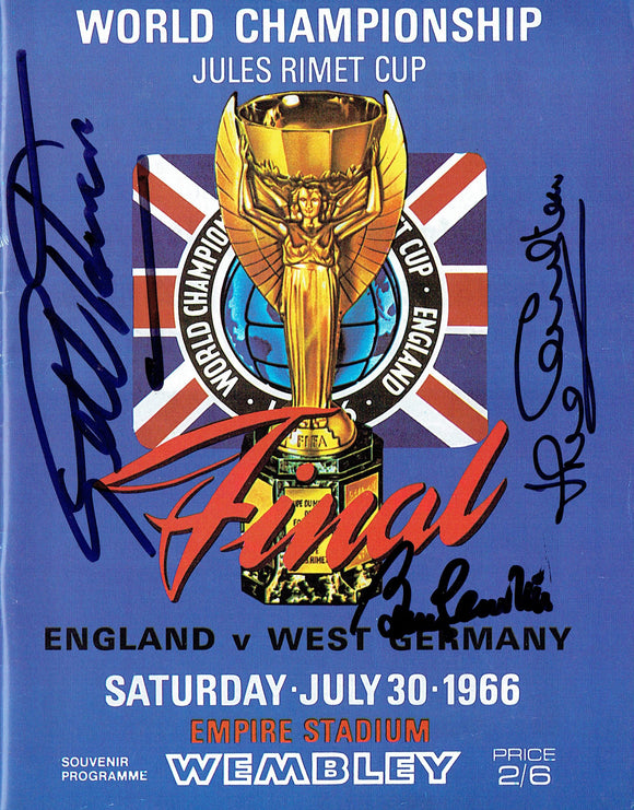 England v West Germany - 1966 World Cup Final Multi Signed Programme