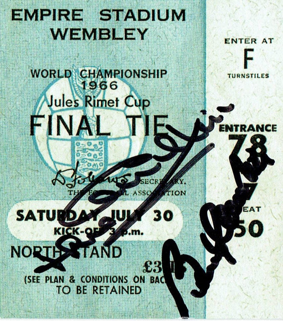 England v West Germany - 1966 World Cup Final Signed Ticket