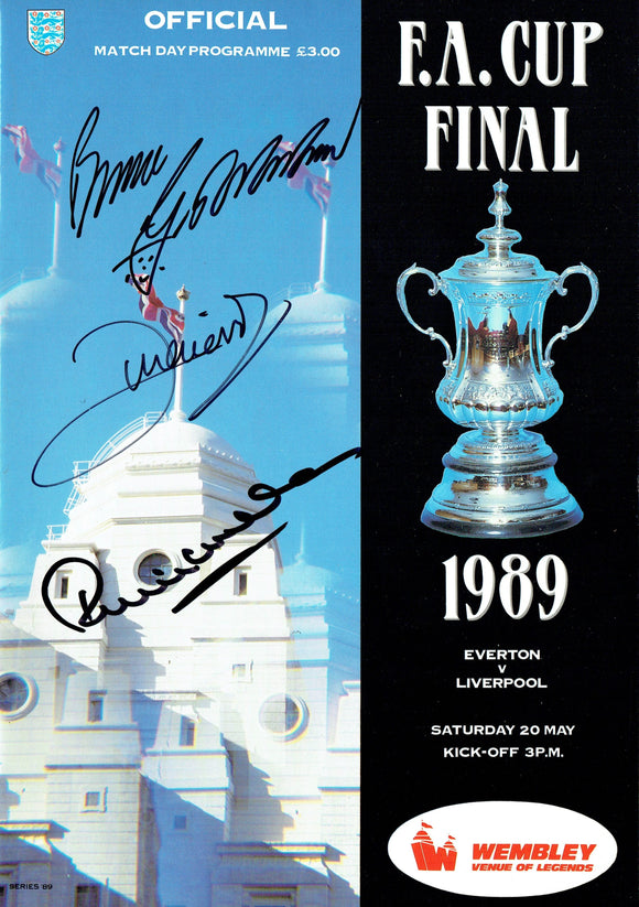 Everton v Liverpool - 1989 F.A. Cup Final Multi Signed Programme
