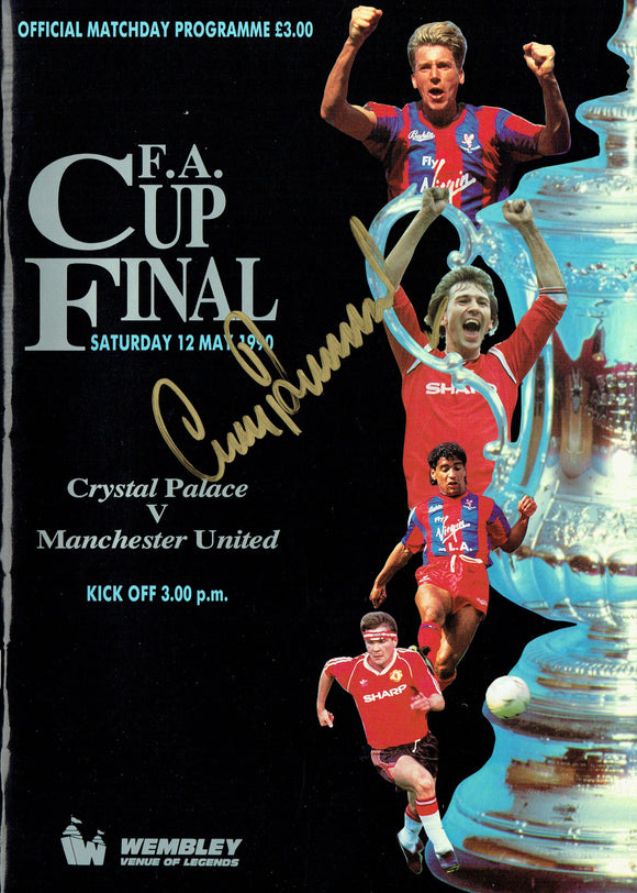 Manchester United v Crystal Palace - 1990 Signed F.A. Cup Final Programme