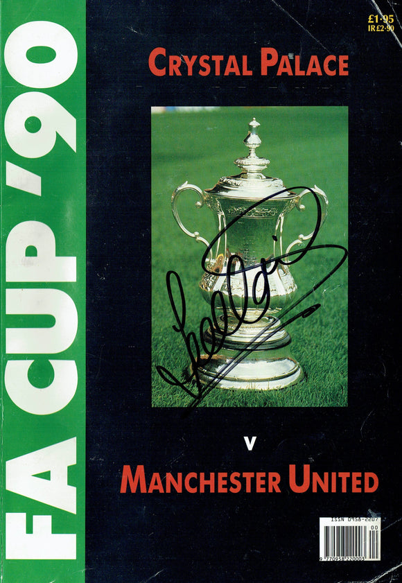 Manchester United v Crystal Palace - 1990 Signed F.A. Cup Final Magazine