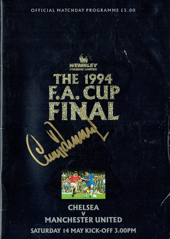 Manchester United v Chelsea - 1994 F.A. Cup Final Signed Programme