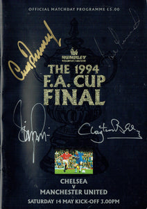 Manchester United v Chelsea - 1994 F.A. Cup Final Multi Signed Programme