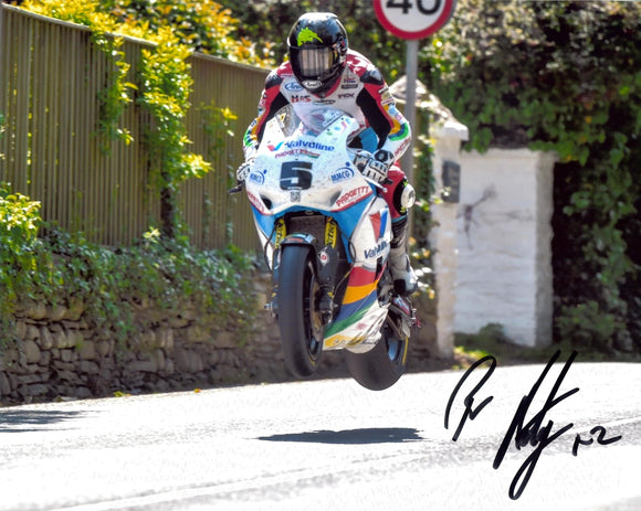 Bruce Anstey - Ballacrie - TT 2014 - 10 x 8 Autographed Picture