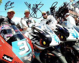 McGuinness / Anstey / Johnston - TT Zero - TT 2015 - 10 x 8 Autographed Picture