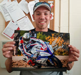 Peter Hickman - Sulby Bridge - TT 2018 - 16 x 12 Autographed Picture