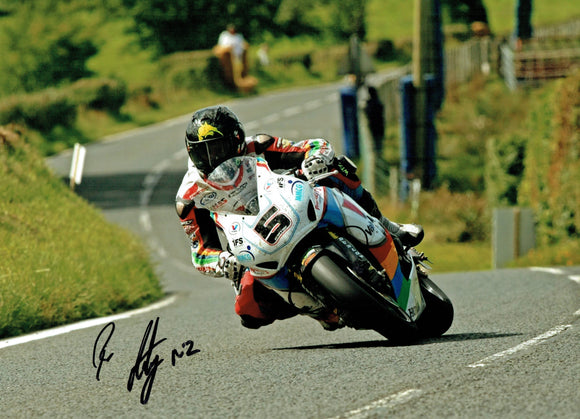 Bruce Anstey - Ulster Grand Prix 2015 - 10 x 8 Autographed Picture