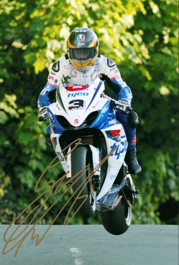 Guy Martin - Ballaugh Bridge - TT 2012 - 16 x 12 Autographed Picture