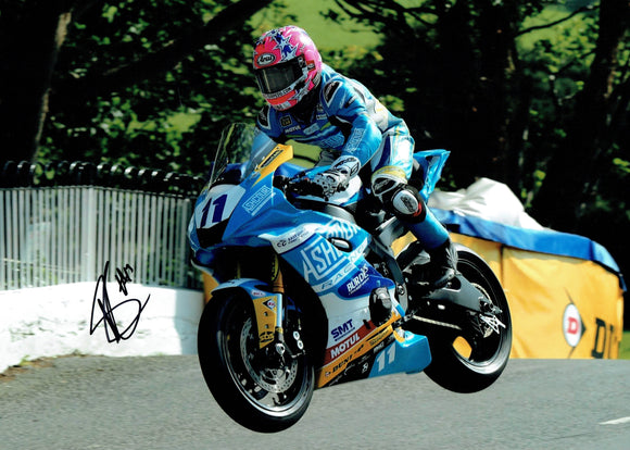Lee Johnston - Ballaugh Bridge - TT 2019 - 16 x 12 Autographed Picture