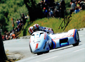 Birchall Brothers - Kirk Michael - TT 2017 - 16 x 12 Autographed Picture