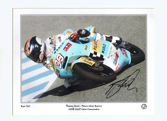 Bradley Smith - Moto G.P. - Polaris World Aprilia - 16 x 12 Autographed Print