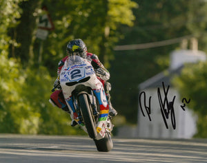 Bruce Anstey - Bishops Court - TT 2016 - 10 x 8 Autographed Picture