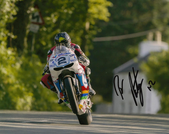 Bruce Anstey - Bishops Court - TT 2016 - 16 x 12 Autographed Picture