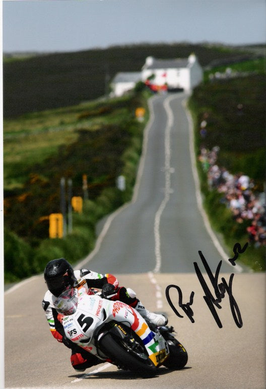 Bruce Anstey - Agos Leap - TT 2011 - 16 x 12 Autographed Picture