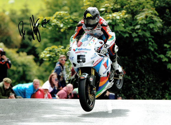 Bruce Anstey - Ballaugh Bridge - TT 2015 - 16 x 12 Autographed Picture