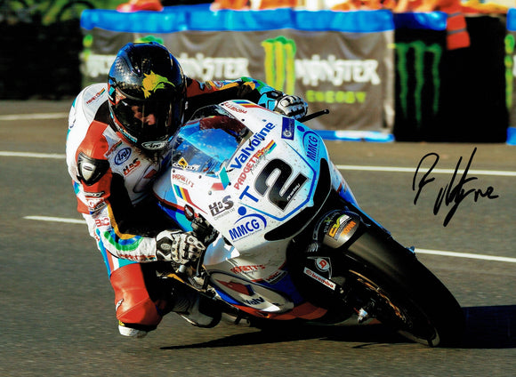 Bruce Anstey - Creg Ny Baa - TT 2016 - 16 x 12 Autographed Picture
