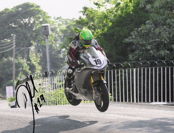 Cameron Donald - Ballaugh Bridge - TT 2014 - 16 x 12 Autographed Picture