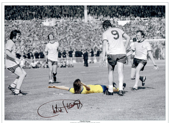 Charlie George - Arsenal - 16 x 12 Autographed Picture