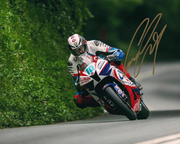 Conor Cummins - Greeba Castle - TT 2010 - 10 x 8 Autographed Picture